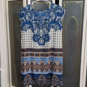 Cute blue paisley dress perfect for spring